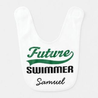 Nadador futuro babador personalizado do bebê