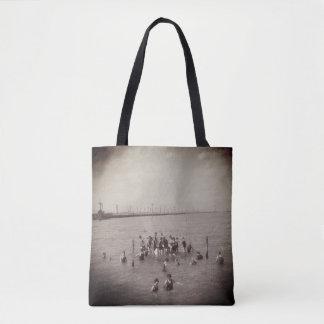 nadadores do vintage do 1920 na sacola de Salt Bolsas Tote