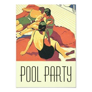 Nadadores legal de Deco da festa na piscina dos Convite 11.30 X 15.87cm