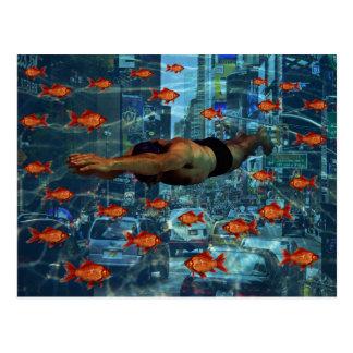 Nadadores urbanos cartão postal