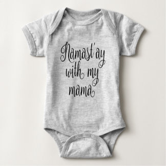 Namast'ay com meu Mama Body Para Bebê