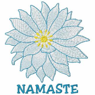 Namaste bordou o t-shirt das mulheres