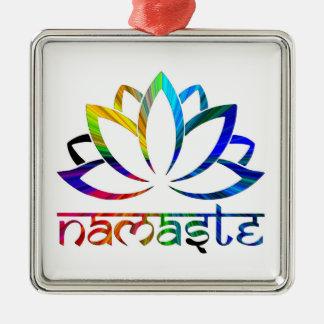 Namaste, flor de Lotus, arco-íris, ornamento