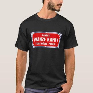Námestí Franze Kafky, Praga, sinal de rua checo Camiseta
