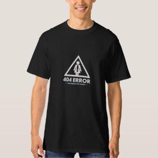 namorada de 404 erros não encontrado camiseta