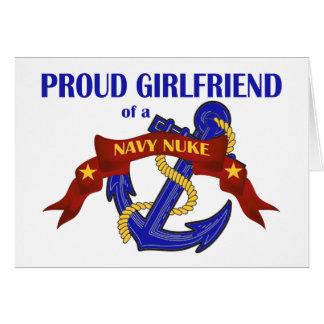 Namorada de umas armas nucleares do marinho cartoes