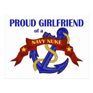 Namorada de umas armas nucleares do marinho cartão postal