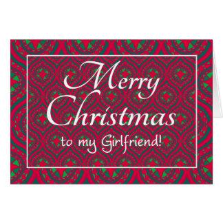Namorada festivo do cartão de Natal, vermelho,