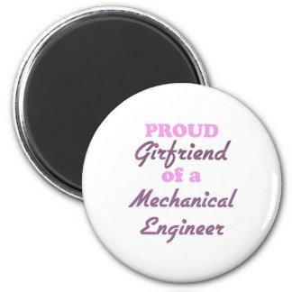 Namorada orgulhoso de um engenheiro mecânico imas de geladeira
