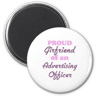 Namorada orgulhoso de um oficial da propaganda imãs de geladeira