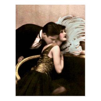 Namoradeira do francês - cartão romântico do vinta cartão postal
