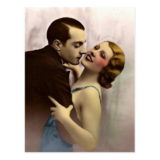 Namoradeira do francês - France romântico Cartão Postal