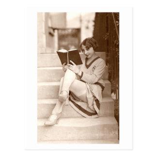 Namoradeira do francês - menina do Pinup da meia Cartão Postal