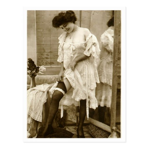 Namoradeira do francês - Pinup do vintage Cartão Postal