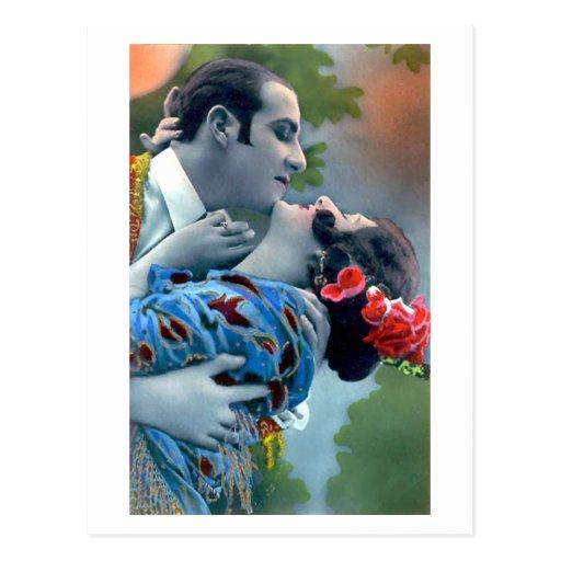 Namoradeira do francês - vintage romântico cartões postais