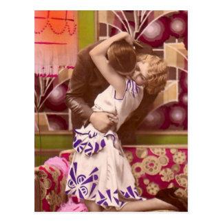 Namoradeira do francês - vintage romântico cartoes postais