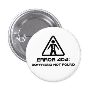 Namorado do erro 404 não encontrado bóton redondo 2.54cm