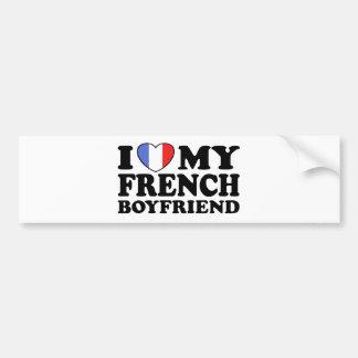 Namorado francês adesivo para carro