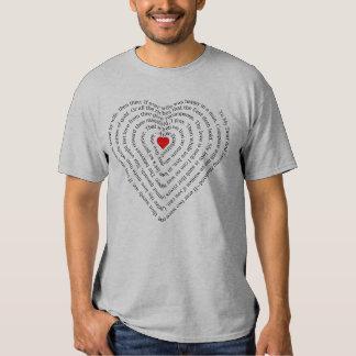 """Namorados """"a meu poema do caro & marido Loving"""" T-shirt"""