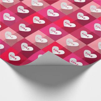 Namorados - blocos do amor papel de presente