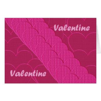 Namorados bordados cartão