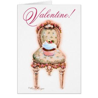 Namorados cor-de-rosa do cupcake cartão comemorativo