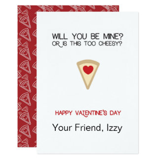 Namorados customizáveis da pizza convite 12.7 x 17.78cm