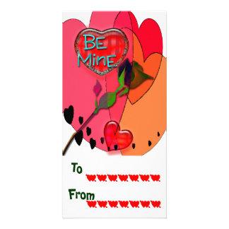 Namorados da escola cartões com fotos personalizados