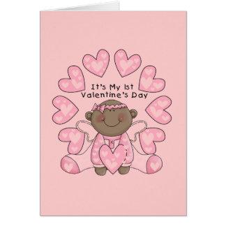Namorados da menina øs - afro-americano cartão