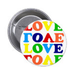 Namorados da sopa do alfabeto do arco-íris do amor boton