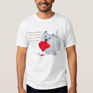 Namorados de Terrier branco de montanhas Tshirts