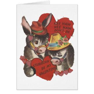 Namorados do asno do Haw de Hee do vintage Cartão