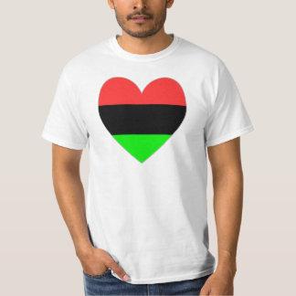 Namorados do coração do afro-americano camisetas