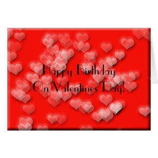 Namorados do feliz aniversario cartão comemorativo
