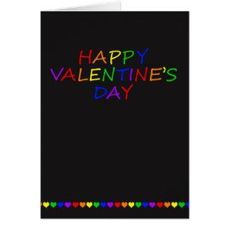 Namorados do gay da tipografia e do coração do cartão comemorativo