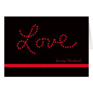 Namorados do marido -- Amor para meu marido Cartão Comemorativo