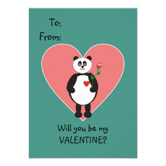 Namorados do urso de panda para miúdos convites personalizado