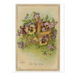 Namorados do Victorian dos cartão do amor perfeito Cartão Postal