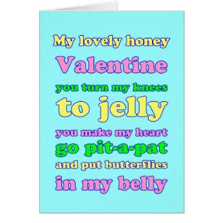 Namorados dos joelhos da geléia! cartão