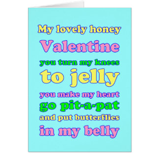 Namorados dos joelhos da geléia! cartão comemorativo