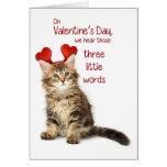 Namorados engraçados do gatinho cartões