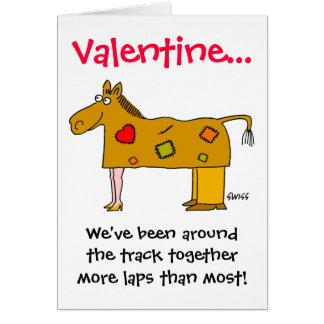 Namorados engraçados especialmente para casais cartão comemorativo