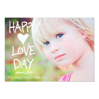 Namorados felizes brancos do dia do amor 311 convite 12.7 x 17.78cm