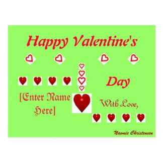 Namorados felizes cartão postal
