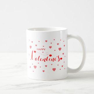 Namorados FELIZES com corações vermelhos Caneca De Café