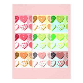 Namorados mim biscoitos do coração modelo de panfleto
