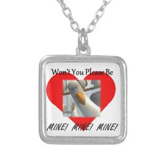 Namorados - mina, mina, mina colar com pendente quadrado