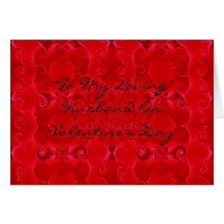 Namorados para o cartão do marido