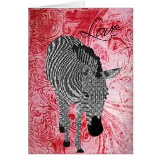 Namorados vermelhos do amor de Zeb Cartão Comemorativo