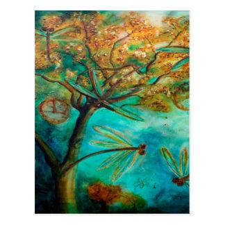 Namorico da libélula cartao postal